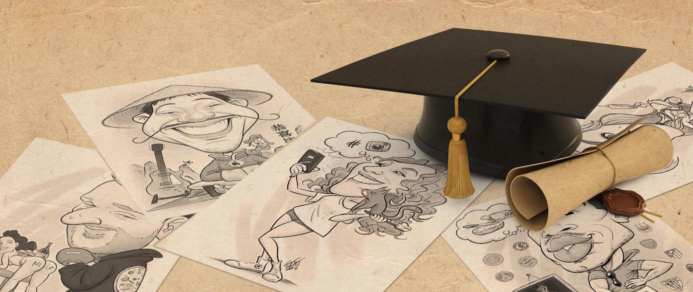 Caricature di laurea